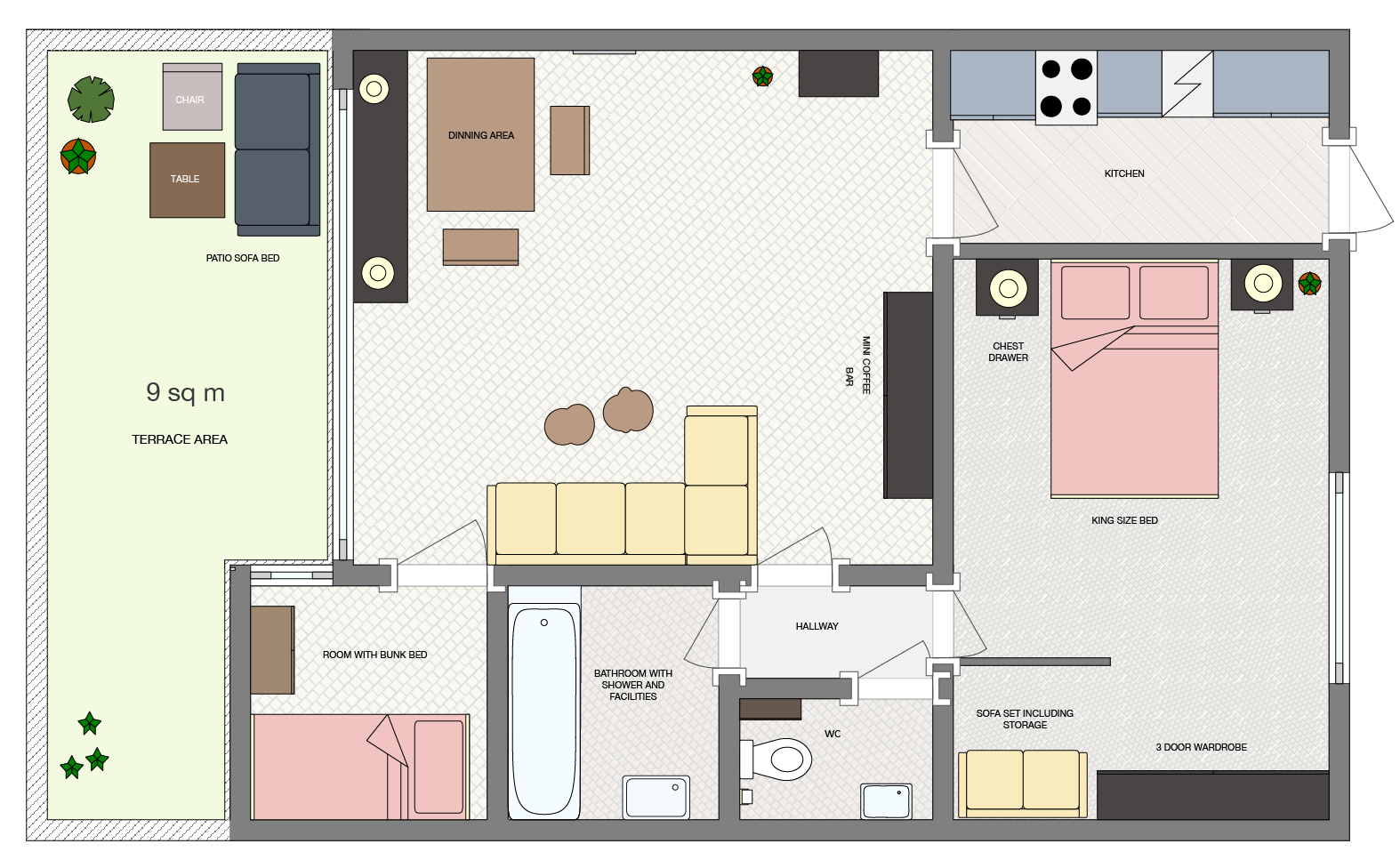 Apartment Wachtelhof Floor Plan