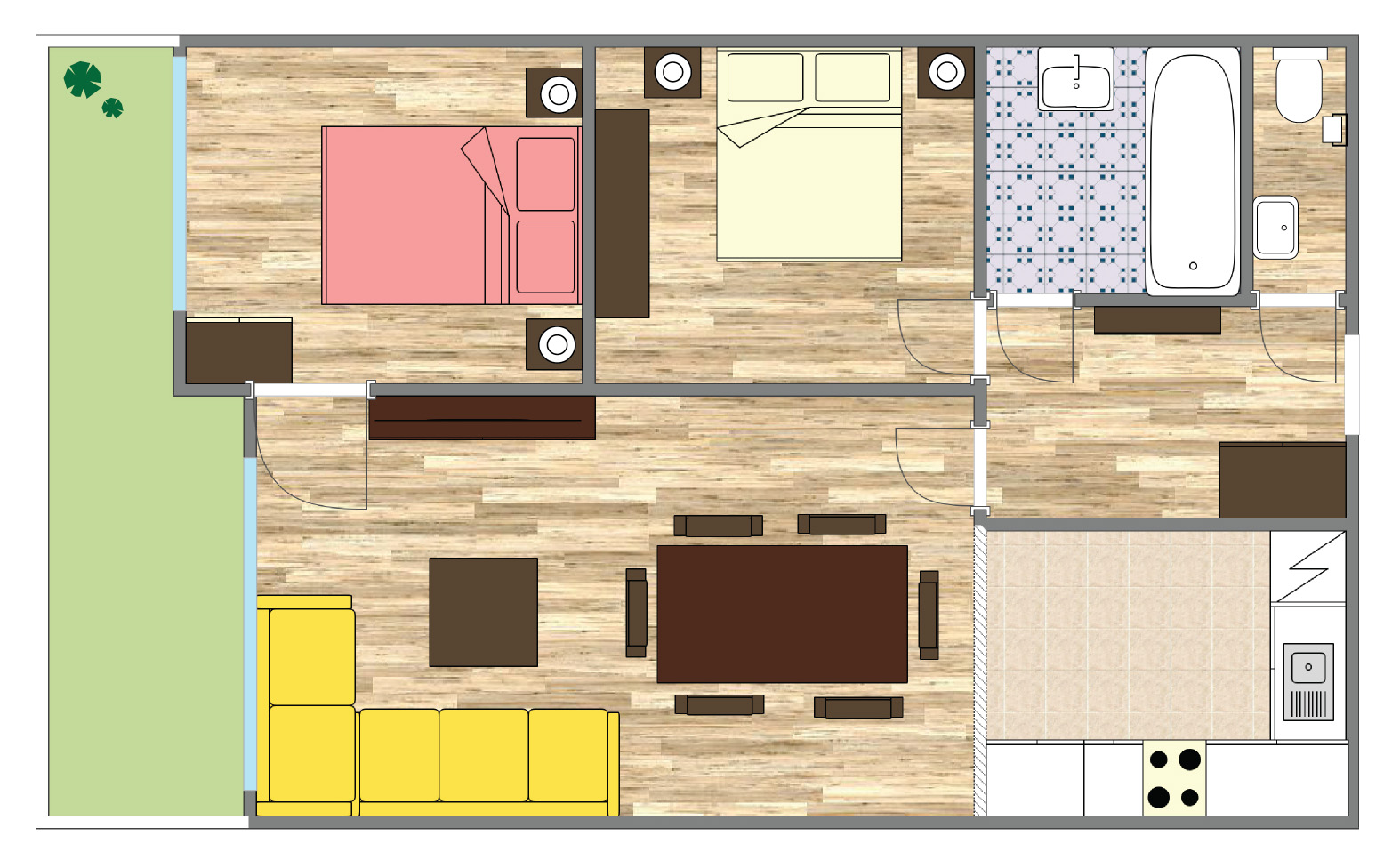 Sonnleiten Apartment Floor Plan